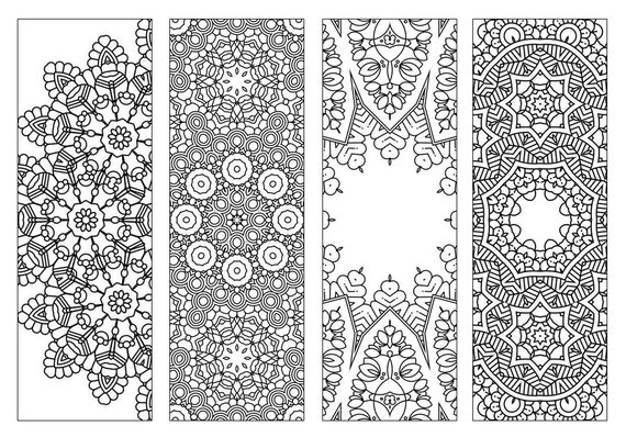 Coloring bookmarks 1 coloring pages coloring for kids page keepers adult coloring gifts for her bookmarks place keepers colouring
