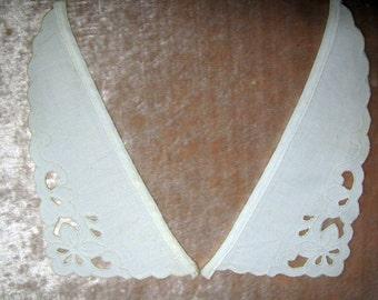 Vintage Collar Off White Pique 1950's