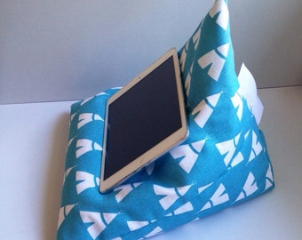 iPad pillow - teepees on teal