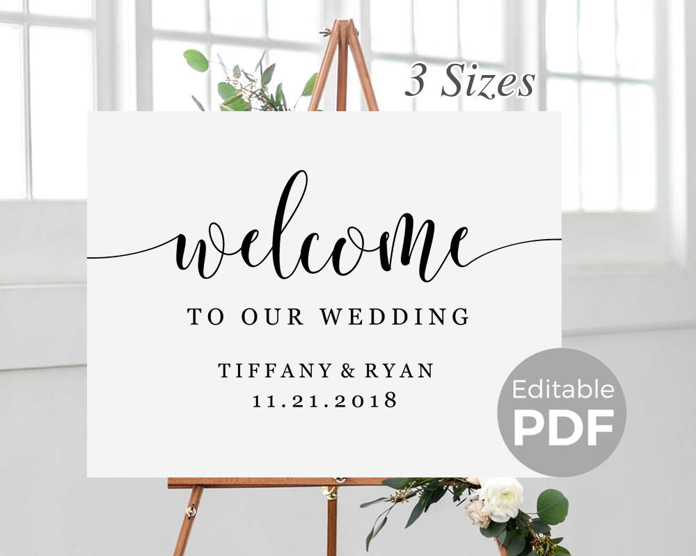 Punchy image inside welcome sign templates