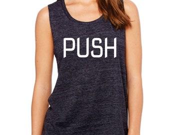 PUSH - flowy muscle tank