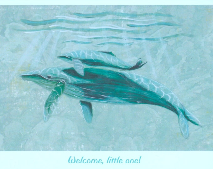 Welcome new baby blank card