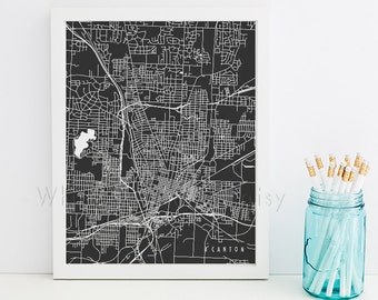 Canton Map Canton Art Canton Map Art Canton Print Canton Printable Canton City Art Canton City Map Ohio Art