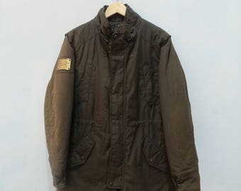 EVISU Long Jacket Military Army Style Parka Rare!! Vintage Japan Style
