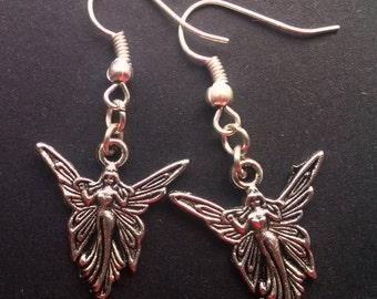 Angel Earrings , Silver Angel Earrings , Guardian Angel , Silver Earrings , Dangling Earrings , Handmade Jewelry , Handmade Jewellery , Gift