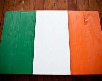 Irish Wood Flag, Irish Flag, Ireland Flag, Irish, Wooden, vintage, art, wall art, Ireland, St. Patrick's Day, Dublin, Eire, home decor