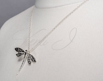 Dragonfly Dainty Sterling Silver Necklace