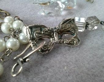 fine silver masquerade clasp