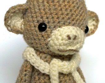 Clark Jungleman - Monkey Amigurumi Crochet Pattern