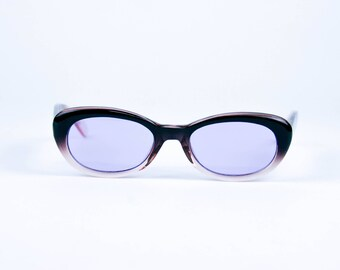 vintage tinted 90's oval cat-eye, hombre frame