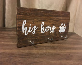 His Hers And Dog Key Holder L His And Hers Keys L Key Holder L Pallet