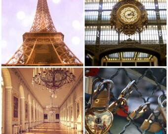 Paris photography set gold paris set of four paris art paris home decor paris wall art paris photo paris art print paris wall decor J'ADORE
