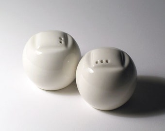 Salt and Pepper Shakers - Spheres - Embossed Squares Set