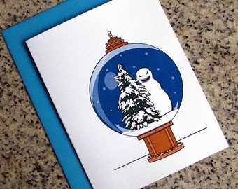 doctor who the snowmen inspired holiday christmas cards / notecards / thank you notes (blank or custom inside) with envelopes - set of 10