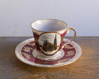 Vintage Porcelain Demitasse or Small Teacup - Wien, Vienna Souvenir