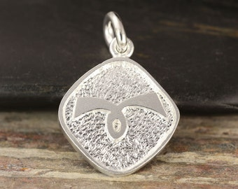 Aries zodiac pendant in sterling silver - double sided, Aries necklace, zodiac necklace, zodiac jewelry