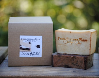 Christmas Gift Set, Smores Gift Set, Smores Soap Boxed Gift Set, Christmas Gift Idea, Gift for Couple, Soap Gift Set,