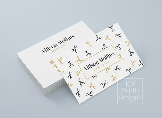 Hairdresser business card design golden business card like this item cheaphphosting Choice Image