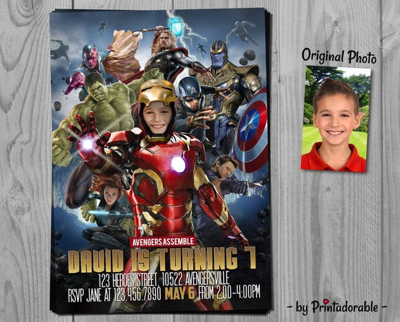 Avengers Invitation - Iron Man Invite - Infinity Wars - Iron Man Invitation - Avengers Invite - Superhero Invite - Iron Man
