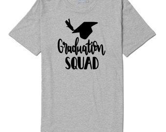 Graduation Squad Senior Class of 2018 Graduation Gift Unisex T Shirt Many Sizes Colors Custom Gift Jenuine Crafts