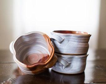 Soup Bowl with Handles (Tri-Fecta Glaze)