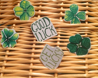 Get lucky shamrocks // St paddy's stickers pack of 6