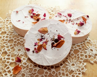 Rose Brine Bar/Handmade Cold-Pressed Soap/Organic Soap/Salt Soap/Vegan Soap/Small Batch Soap/Essential Oil Soap/Rose Soap/Pink Soap/Spa Soap