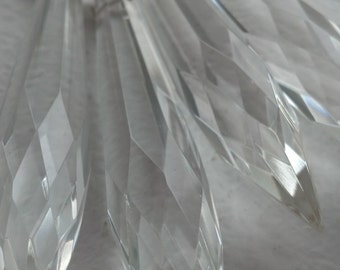 5 Clear Icicle Chandelier Crystal Ornament 76mm Lead Crystal Prisms