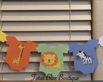 Safari Theme Banner, Safari Theme Baby Shower, Jungle Baby Shower Decoration, Safari Decoration, It's a Boy Banner, Safari Animal Decor, Zoo
