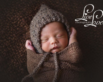 Download PDF crochet pattern 058 - Ribbed Pixie bonnet- Multiple sizes from newborn through age 4