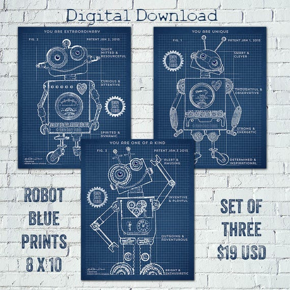 Robot blueprints robot patent robot printable toy robot malvernweather Images