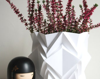 Handmade origami large vase | elegant decoration item perfect for your home | available in different colors | perfect a gift