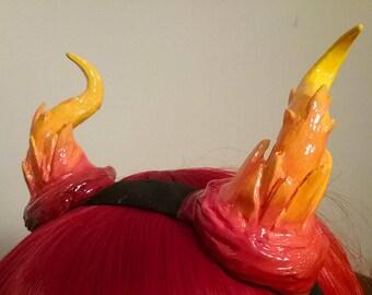 Fire Crystal Shard Dragon Horns
