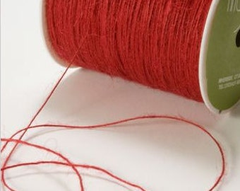 Red Rustic Twine - Jute String