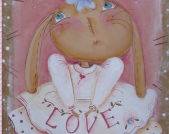 Tiny Love Bunny and Sparkle Bunny by Terrye French
