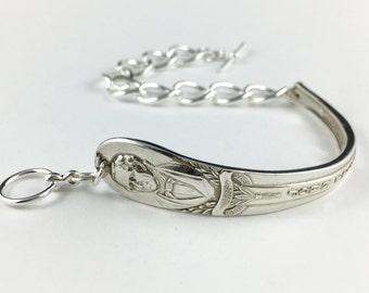 John Tyler, President Bracelet, Spoon Bracelet, Spoon Jewelry, Silver Bracelet, USA President,  Silver Spoon Bracelet, Cutlery Jewelry