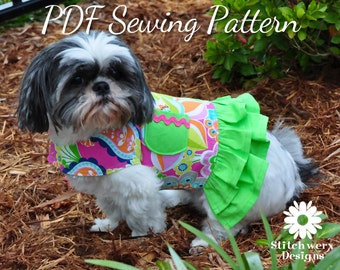 DOG HARNESS SEWING Pattern, Dog Clothes Pattern, Dog Harness, Pdf Sewing Pattern, Small Dog Clothes, Harness Pattern, Dog Harness Pattern