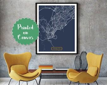PANAMA CITY Panama CANVAS Large Art City Map Panama City Panama Art Print poster map art jt JackTravelMap