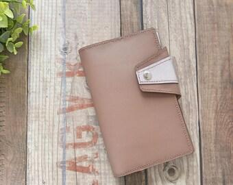 Etui carnet A6, bullet journal, agenda, planner, cadeau pour femme, fête des mères, cuir, minimaliste