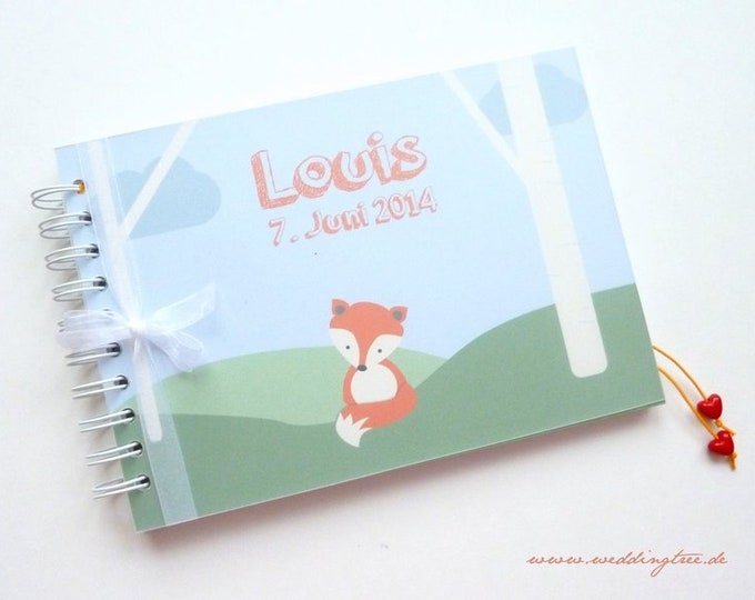 Guestbook Christening Fuchs with guest questions