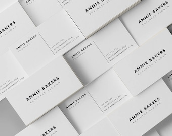 Simple Business Card, Minimalistic Calling Card, Light Grey, Name Card, Elegant Business Card, Professional Stationery, Legal Contact Card