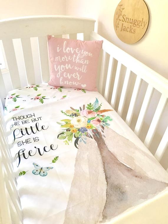 Baby Cot Crib Quilt Blanket Dreamcatcher Baby Girl Teepee