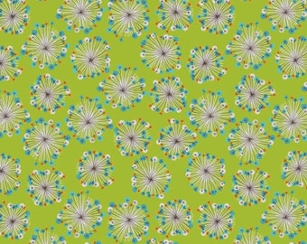 1 Yard  BLOOMS & BURSTS  1690-66-green DILL Blossom Seed Heads Studio E Studio Baby Blue Petite Floral Quilting Sewing Fabric
