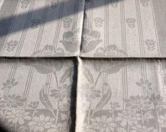 antique linen damask towels