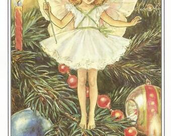The Christmas Tree Fairy Cicely Mary Barker Flower Fairies Vintage Print 1995 Wall Art Nursery Decor Fairy Print Home Decor Print Fine Art