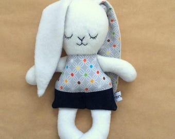 Easter Bunny soft toy, bunny rabbit, soft doll, Made in Australia, Stuffed Rabbit Plushie, soft toy, Baby shower, nursery decor, handmade