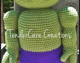 "Crochet ""Hulk"" Inspired doll, Incredible Hulk, Amigurumi doll"
