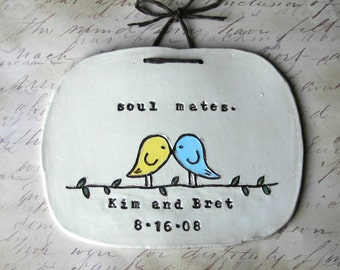 Personalized Wedding Gift Sign: Soul Mates, Shower Gift, Anniversary Gift