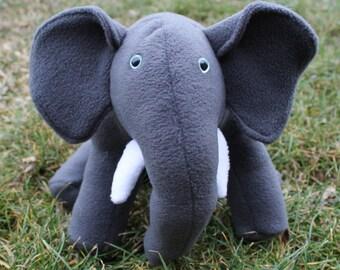 Sitting Stuffed Elephant