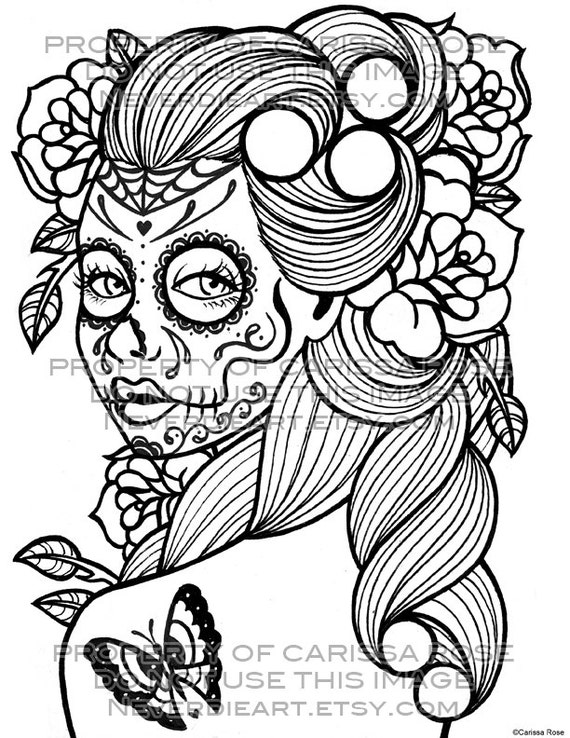 Day of the Dead Tattoo Flash Digital